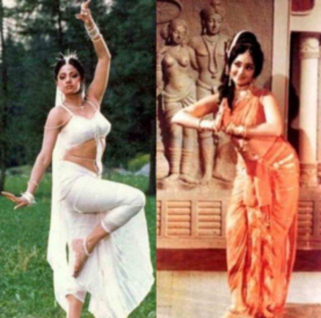 Sridevi in Chandni (L) Vaijanthimala in Amrapali (R)