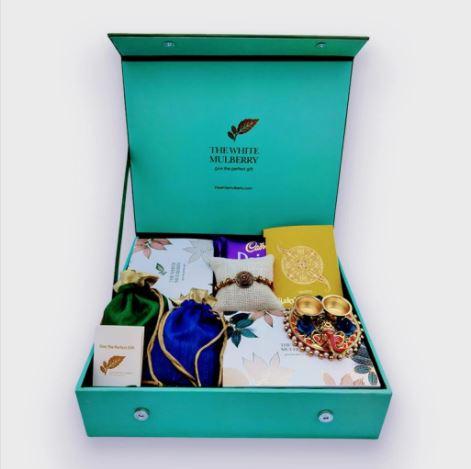 The White Mulberry Royal Rakhi Gift Box