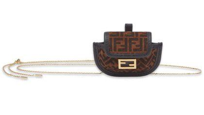 Fendi Pico Baguette FF-logo chain-strap purse